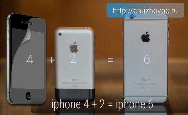 iphone 4 + 2 = iphone 6
